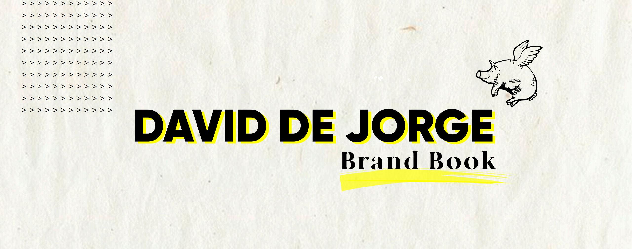 david de jorge - brandbook